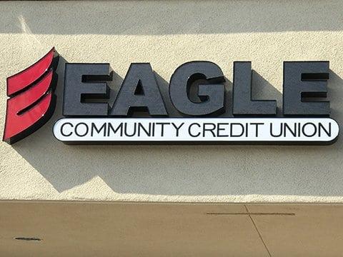 eagle cu front signage