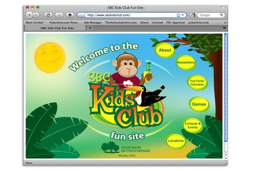 kids club website 4