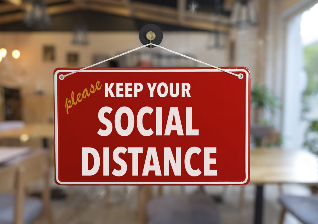 Social Distance Marketing Sign